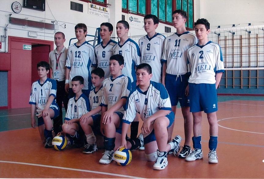 Under 14 maschile stagione 2003/2004. Sesti classificati ai campionati nazionali FIPAV.